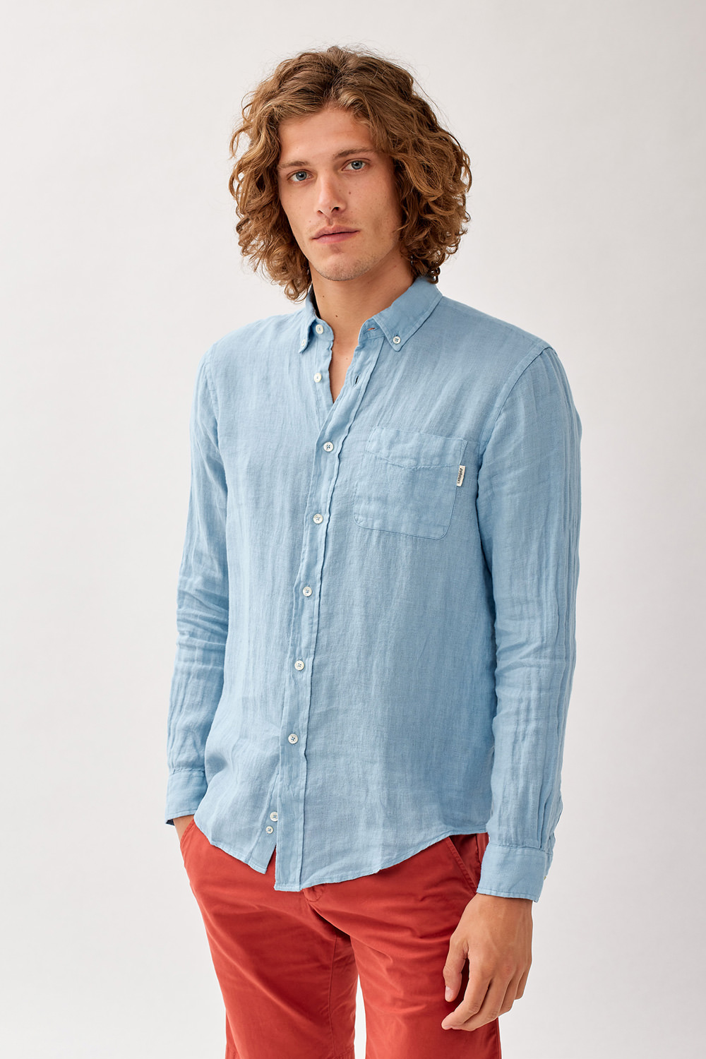 ROY ROGERS: FITZ DYED SHIRT IN LINEN