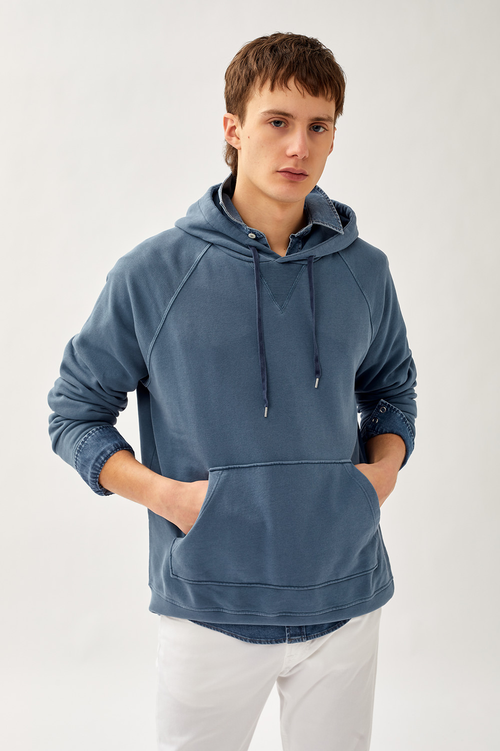 ROY ROGERS: HOODED SWEATSHIRT IN ORGANIC COTTON