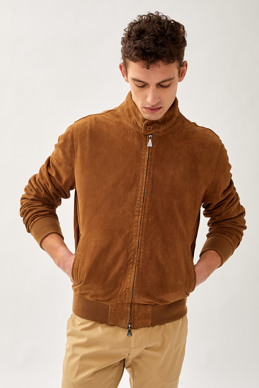 ROY ROGERS: BARRACUDA JACKET NEW IN WASHED SUEDE