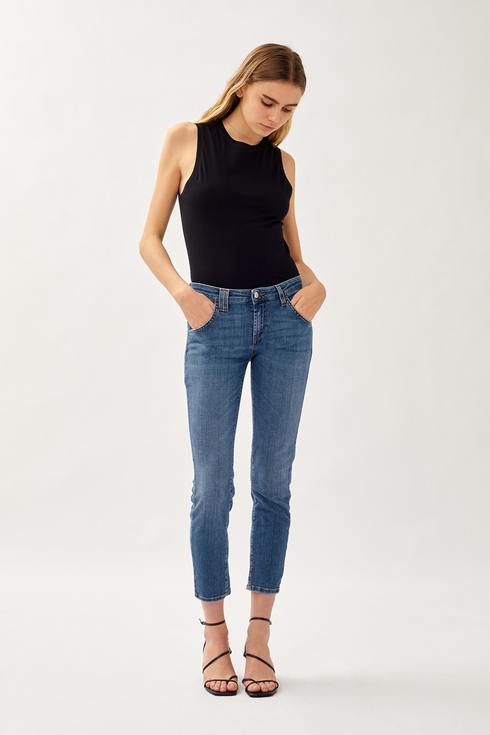 ROY ROGERS: JEANS ELIONOR NOOSA IN DENIM SUPER STRETCH