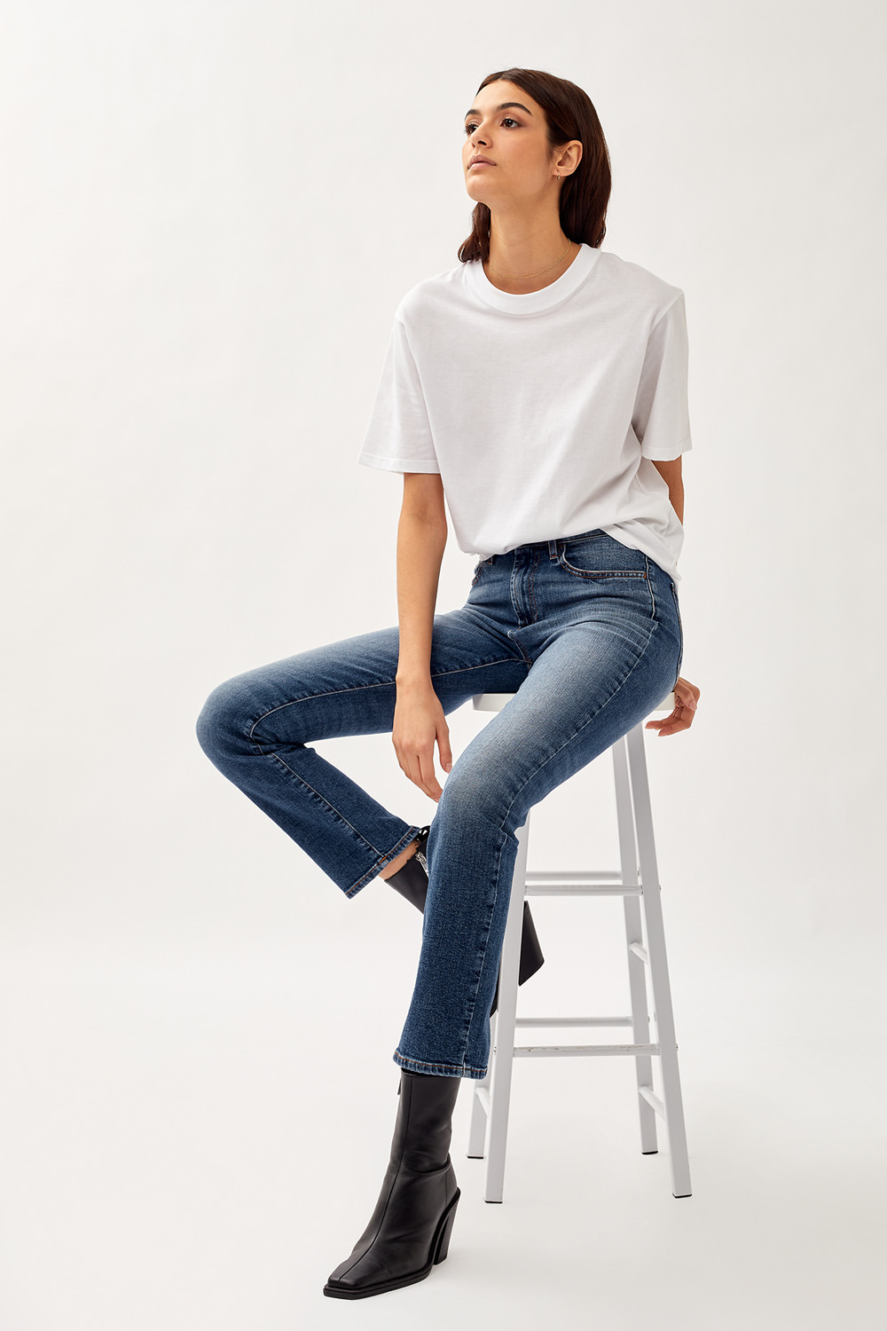 ROY ROGERS: JEANS FLO HIGH GEMMA IN DENIM SUPER STRETCH