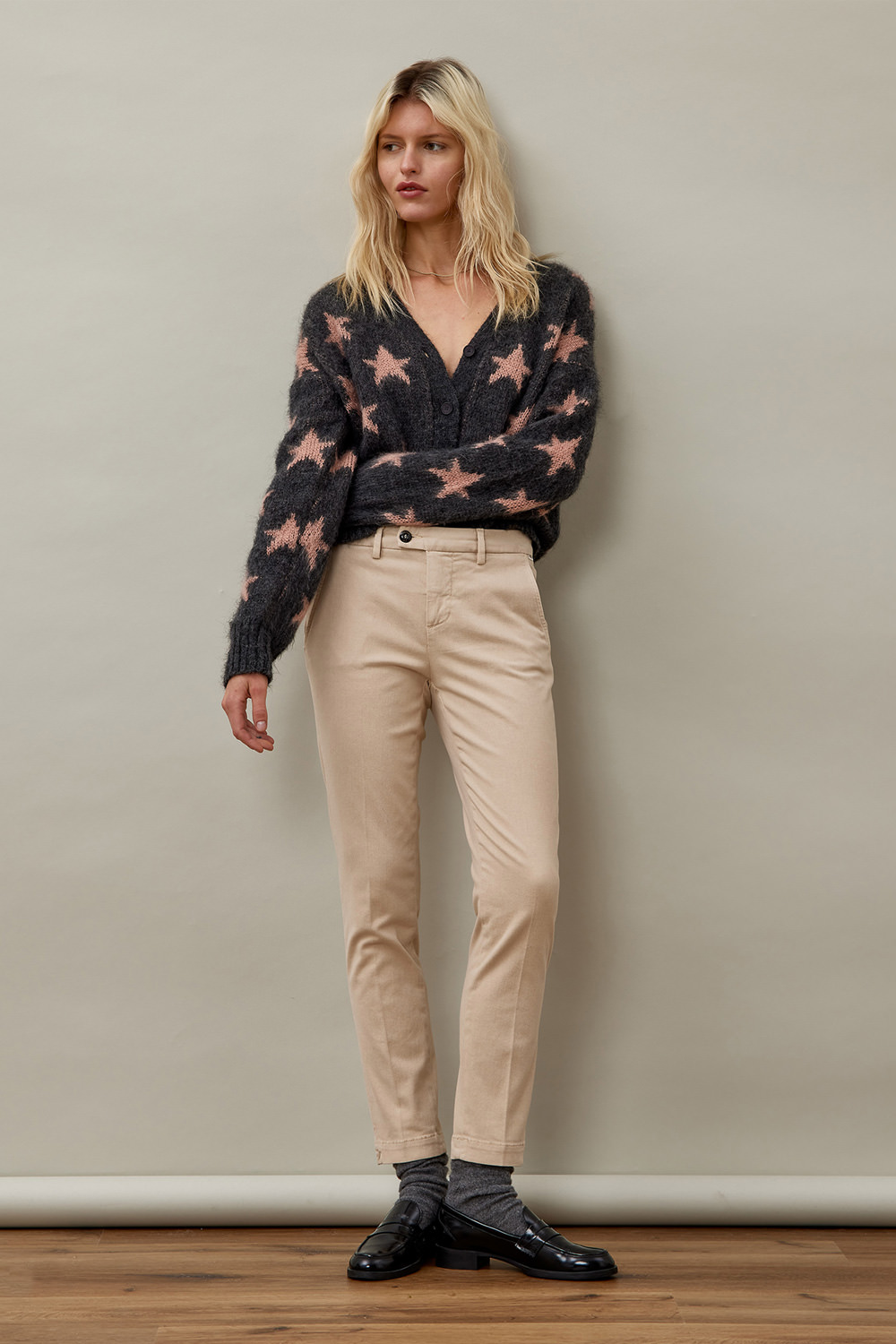ROY ROGERS: FLOW PXT DYED CHINO PANTS
