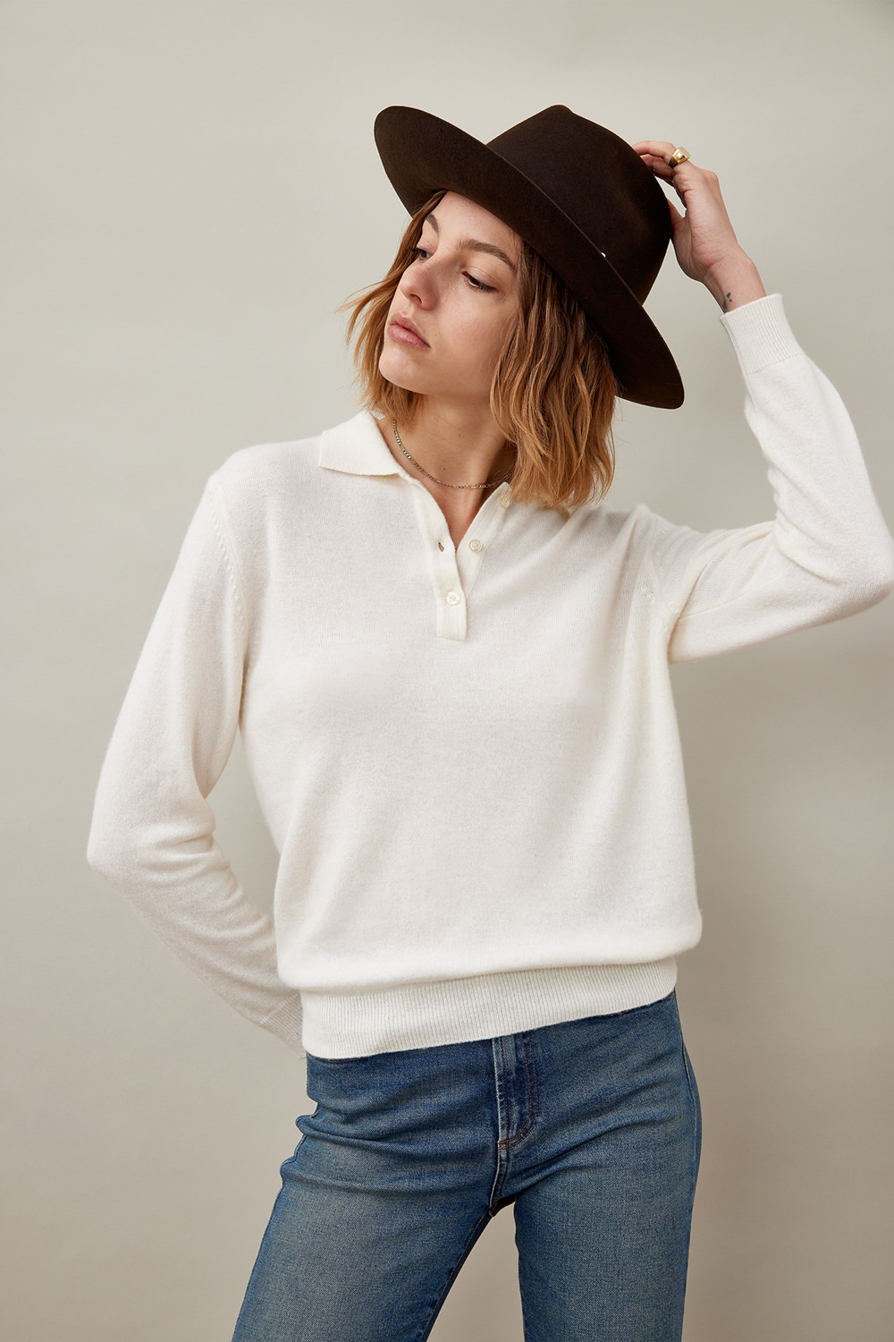 ROY ROGERS: POLO IN LANA E CASHMERE