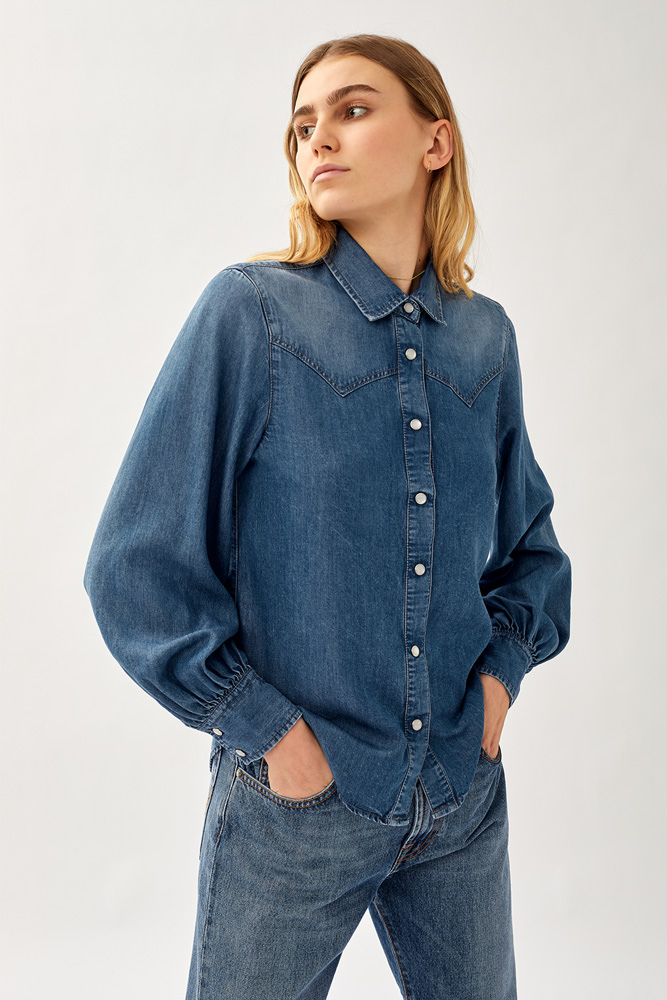 ROY ROGER'S AURY SHIRT IN DENIM
