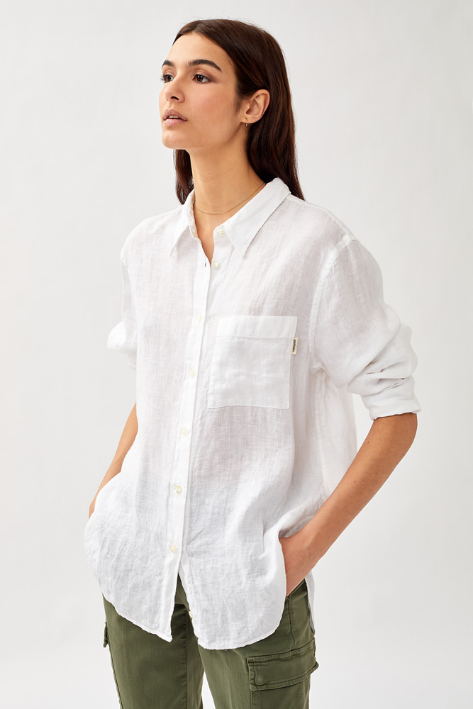 ROY ROGER'S EASY SHIRT IN DYED LINEN