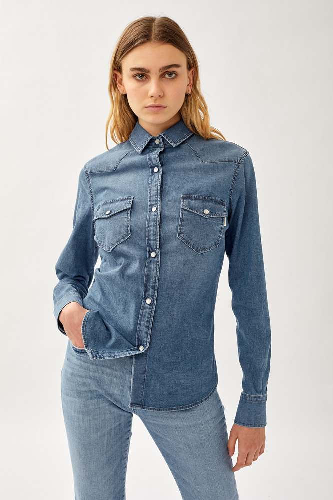 ROY ROGER'S JOLI SHIRT IN DENIM