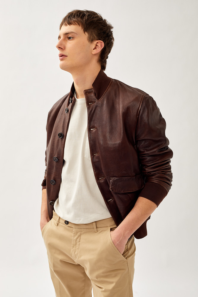 ROY ROGER'S ALFRED LEATHER JACKET