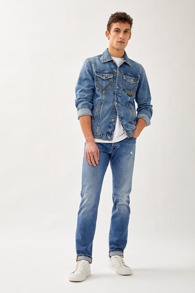 ROY ROGERS: VERMENTINO 529 JEANS IN ORGANIC DENIM