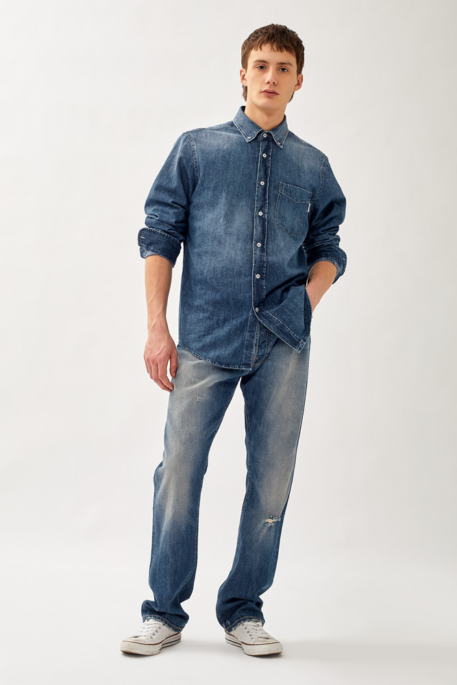 ROY ROGER'S BUZZ AMARO JEANS IN SELVEDGE DENIM
