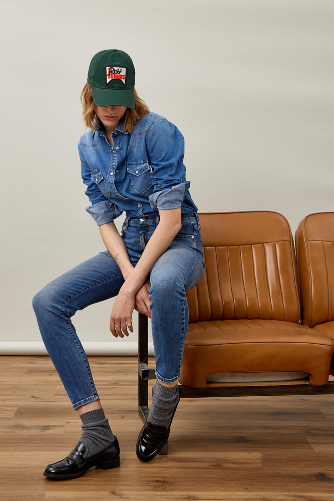 ROY ROGER'S JEANS CATE HIGH SLOAN STRETCH