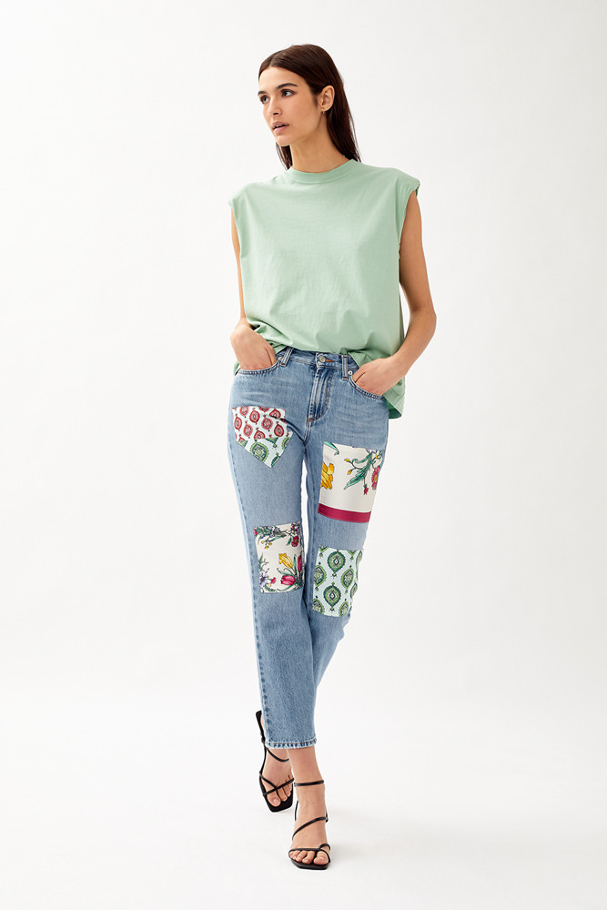 ROY ROGERS: JEANS RE-ISSUE HIGH FLO FOULARD