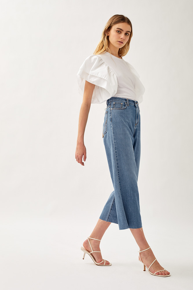 ROY ROGER'S RITA CLINTHA CROPPED JEANS