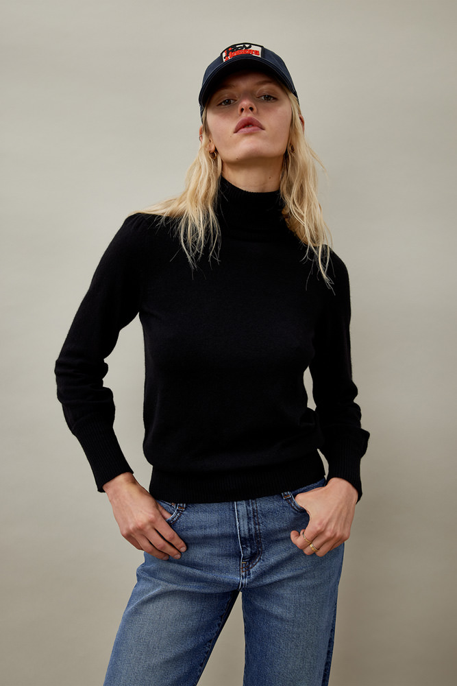 ROY ROGER'S TURTLE NECK SWEATER IN WOOL AND CASHMERE