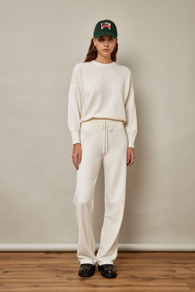 ROY ROGER'S KIMONO CREW NECK SWEATER IN WOOL AND CASHMERE