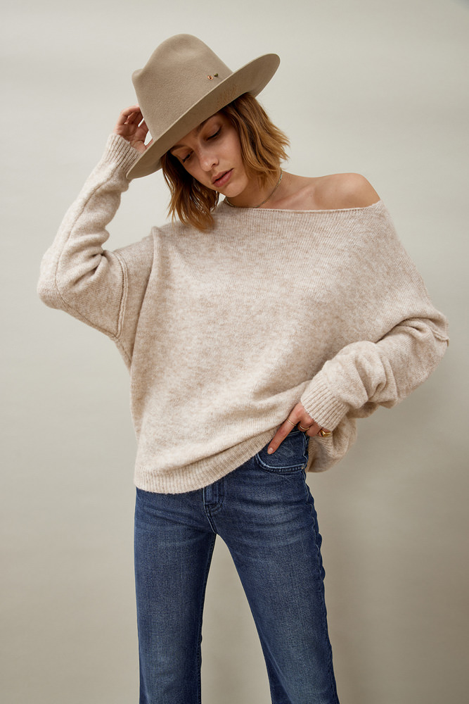 ROY ROGER'S SELFEDGE SWEATER IN STRETCH ALPACA