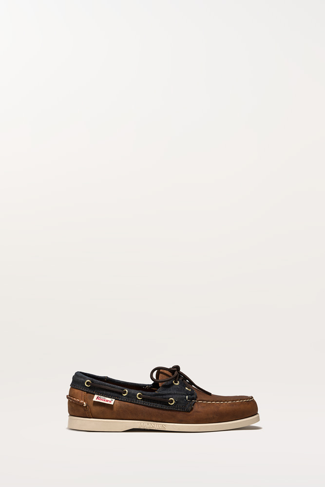 ROY ROGERS: PORTLAND SEBAGO WITH ROY ROGER'S LOAFERS IN NUBUCK LEATHER AND DENIM