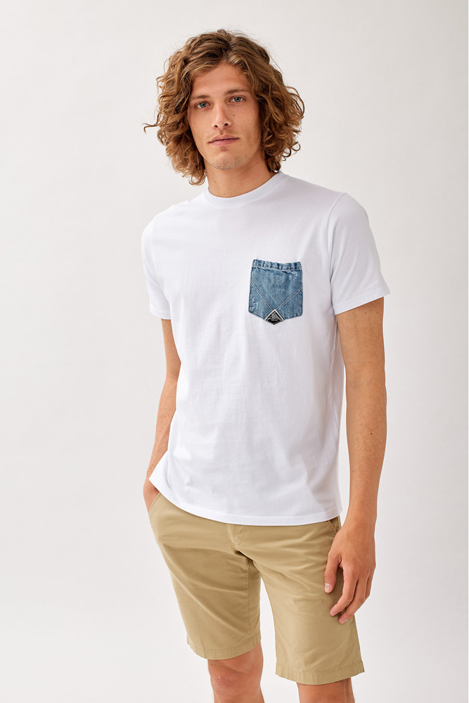 ROY ROGER'S T-SHIRT POCKET DENIM IN JERSEY